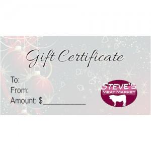 Steves Meat Market Gift Certificate